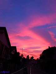 cielotorinese3 (archgionni) Tags: city buildings case homes sunset sky blu blue nuvole clouds colori colors rosso red arancione orange effetti effects smog christiangroup