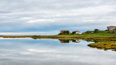 It's. Oh. So still (OR_U) Tags: 2017 oru iceland sauðárkrókur widescreen 169 reflection lake still quite bjork houses farm sky water mirror seascape serenity