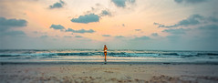 The girl on the beach. (Aglez the city guy ☺) Tags: southpointebeach miamifl miamibeach walking walkingaround waterways seashore seascape woman outdoors urbanexploration sobe lateafternoon beachscape beachshore beautifulpeople colors