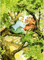 Postcrossing NL-3923458 (booboo_babies) Tags: green art oldwomen ingelook tree painting postcrossing