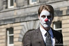 Straight Ahead (DMeadows) Tags: dmeadows davidmeadows davidameadows edinburgh fringe festival 2017 street performance performances performers act acts promotions promotion show shows promoting advertising face paint facepaint man suit red nose tamronspaf90mmf28dimacro