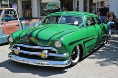 21st Annual La Verne Cool Cruise (USautos98) Tags: 1951 ford shoebox traditionalhotrod streetrod kustom leadsled scalloppaint