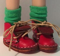 Leaf Green Short Socks...For Blythe...