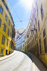 Lisbon tram lines (Michael Stadnik {I'm a scientist}) Tags: lisbon lisboa lissabon portugal summer sky himmel sun sonne tram lines tramlines publictransportation visitportugal visitlissabon lowangelshot low angel froschperspektive architecture architektur architecturephotography street streetphotography