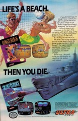 Kings of the Beach and Silent Service (justinporterstephens) Tags: nintendo nes videogames ads