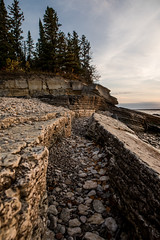 quarry lines (Mr. Gee) Tags: camera 2017 gullharbour hecla heclaisland lakewinnipeg lighthouse shore sunrise water waves