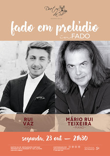 CONCERTO IN FADO - Duetos da Sé - Alfama Lisboa - SEGUNDA-FEIRA 23 OUTUBRO 2017 - 21h30 - FADO EM PRELÚDIO - Rui Vaz - Mário Rui Teixeira