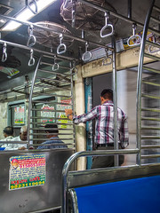 Mumbai 2015 (hunbille) Tags: india mumbai bombay birgittemumbai2lr subway commute commuting train metro metal