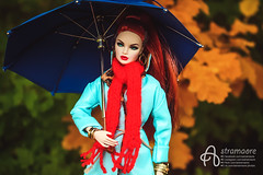 Nicole (astramaore) Tags: doll fashion fashiondoll fashionistas dollphotography integritytoys astramaore high envy erin redhead scarf coat autumn fall girl chic beauty glam style ponytail umbrella