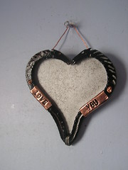 Martin Horse Head Heart Picture Frame - On Wall 17-10-2017 (Lord Inquisitor) Tags: blacksmith brother forged induction forge horse head heart paint black steel photo frame