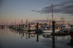 Moon Rise Over Steveston (Clayton Perry Photoworks) Tags: vancouver bc canada richmond steveston autumn fall explorebc explorecanada boats fishing moon