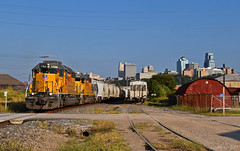 """Northbound Manifest in Kansas City, MO (""""Righteous"""" Grant G.) Tags: up union pacific railroad locomotive train trains west westbound north northbound manifest freight emd"""