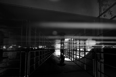 Under cover (maekke) Tags: zürich umbrella man schanzengraben puddlegram reflection rain streetphotography bw noiretblanc 2017 ch switzerland fujifilm x100t 35mm