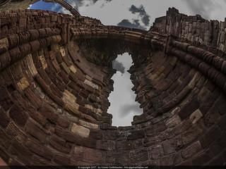 Lindisfarne Priory ruined dome