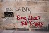 "#Manif10octobre #Nantes #GameOfTags: ""NAC LA BIK"" (presque @naklabic) - Elise LUCET EN K-WAY (ValK.) Tags: gameoftags loitravailxxl pjlterrorisme loitravail cabanedupeuple etatdurgencepermanant maisondupeuple nantes politique valk demonstration fonctionpublique graff graffiti greve intersyndicale manifestationunitaire social tag france fr"