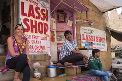 Rajasthan - Jaisalmer - Bhang lassi shop people-3