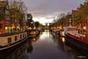 Amsterdam. (alamsterdam) Tags: amsterdam canal brouwersgracht houseboats architecture bridge longexposure reflections