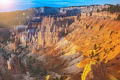 Bryce Canyon as Viewed From Sunrise Point at Bryce Canyon National Park,in  Utah, United States of America (DmitryMorgan) Tags: landscape panorama usa utah america american brown bryce brycecanyon brycecanyonnationalpark canyon cliff colorful columns day dusk famous formation grand hoodoo landmark monument morning mountain national natural nature orange peaceful pinnacle point red rock sandstone scenic serenity shapes southwest spires sunrise tourism unique us valley vibrant viewpoint