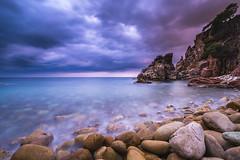 Cala S'Agulla (modesrodriguez) Tags: seascape landscape longexposure fuji clouds silkeffect catalunya cataluña spain rocks beach formation rock sea mediterranean