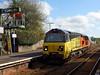 70808 Liskeard (3) (Marky7890) Tags: colasrail 6c36 class70 70808 liskeard cornishmainline freight cornwall train