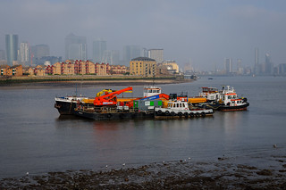 Tugs on the Thames.