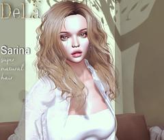 "=DeLa*= new hair ""Sarina"" (=DeLa*=) Tags: dela hair fitted rigged bento mesh materials secondlife secondlifefashion sl style slhair tres chic new"