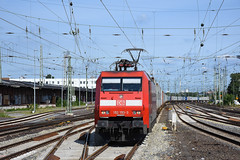 152 153 with an intermodal at Bremen HBF (Richard Hagues Photography) Tags: bremen bahn railways germany guterzuge db electric 155