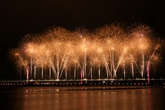0256  © Kevin A Urquhart  Photography (ElitePhotobox2) Tags: lighting firework display new mersey gateway bridge runcorn widnes linux krita