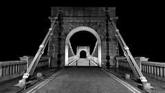 Wellington Suspension Bridge-Shadows & Light.jpg (___INFINITY___) Tags: 6d aberdeen bw godoxad360 wellingtonsuspensionbridge architect architecture building canon canon1740f4 darrenwright dazza1040 eos fineart flash infinity light lightpainting night scotland strobist metal