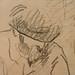CEZANNE,1872-73 - Cézanne gravant auprès du Docteur Gachet, La Morsure (drawing, dessin, disegno-Louvre RF29925) - Detail 21