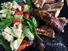 tonights dinner (harry de haan, the cameraman) Tags: harrydehaan realityphotographer realityphotography documentaryphotography fotosdieietstevertellenhebben storytelling asiseeit eyewitness queensland australia food dinner ribs salad