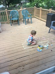 """Paul Colors with Chalk on the Deck • <a style=""""font-size:0.8em;"""" href=""""http://www.flickr.com/photos/109120354@N07/37988595826/"""" target=""""_blank"""">View on Flickr</a>"""
