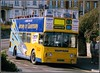 Yellow Buses 138 (Lotsapix) Tags: yellow buses bournemouth opentop shamrock daimler fleetline alloveradvert film pentaxmz5n vjt138s
