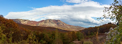 Red Mountain (mikhailkorzhalov) Tags: canon sigma sigma1750 17mm f80 panorama alushta crimea mountain mountains nature naturallight forest leaves witheredleaves autumn tree trees landscape landscapes sky cloudy clouds blue bluesky whitesky white orange yellow red plant plants flower flowers ground multicolored outdoors scenics travel travels