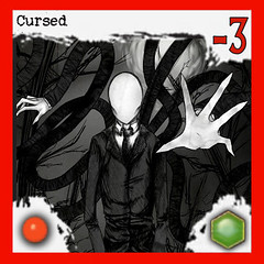 """Manifestation of Slenderman: Cursed"" 8/10 - Arkham Horror Monster, front side (dizzyfugu) Tags: slender slenderman urban myth horror child abduction lovecraft cthulhu arkham great old one servant race monster board game epic dizzyfugu strange eons"