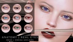 ANATOMY - Real Eyes (daeberethwen) Tags: anatomy omegaappliers mesheyes secondlife insol tableauvivant lelutka