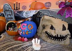 Disney Halloween Pumpkins (meeko_) Tags: pumpkin halloween disneyhalloween mickey mouse minnie mickeymouse minniemouse coco pixar oogie boogie oogieboogie villain thenightmarebeforechristmas lobby disneys boardwalk disneysboardwalk resort walt disney world waltdisneyworld florida display