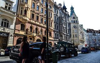 Chatting on the road - Josefov, Prague