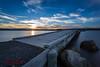 Napier Sunset_ (Anneka Barritt Photography NZ) Tags: landscapes napier noedit rocks seascapes sunset bridges canon6d canonl1740 longexposure