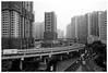 Year of the Rooster (TravelsWithDan) Tags: shanghai china cityscape urban highrise expressway smog urbansprawl blackandwhite bw condos vehicles poorairquality ngc