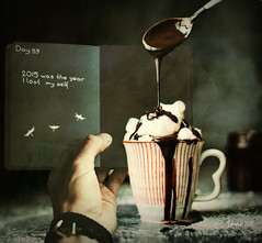ChocolateTherapy (clabudak) Tags: chocolate spoon coffee cup journal