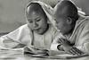 è ora di studiare (mat56.) Tags: monache monachelle monaca nuns nun little monastero monastery ragazze girls girl ragazza studio study mandalay myanmar birmania burma asia persone people antonio romei mat56 ritratto ritratti portrait portraits bianco black nero white