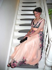 One year ago... (Rikky_Satin) Tags: chiffon dress gown prom highheels sandals clutch handbag crossdresser crossdressing transformed transformation transvestite transgender tranny tgirl gurl tv cd sissy feminization
