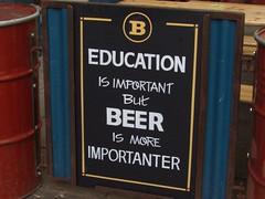IMG_1425 (Thanks for One Million plus views!!) Tags: sign swansea humour humor fun giggle laugh beer blackboard chalkboard pub bar drink education school