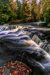 Fallen Leaves at Bond Falls (Cole Chase Photography) Tags: autumn waterfall upperpeninsula michigan october fall