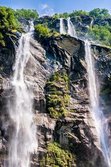 Twin cascades (Mario Ottaviani Photography) Tags: sony sonyalpha italy italia paesaggio landscape travel adventure nature scenic exploration view vista breathtaking tranquil tranquility serene serenity calm marioottaviani twin twincascades twinwaterfalls waterfall cascate cascategemelle acquafraggia valchiavenna salto jump