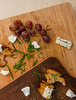 Grilled bread slices, grapes, chives, goat cheese and Bleu d'Auvergne. (annick vanderschelden) Tags: grapes fruit crimson purple cluster color droplets water bowl food tablegrapes yeast wood whitegrapes french france snacking dressing bread grilled oliveoil herb rosemary chives chopped goatcheese bleudauvergne belgium