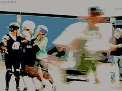 Port Scandalous vs. Rolling Hills @ SQ B&GC (Eve.Penman) Tags: letsroll letsjam rollerderby girlsnightout rollergirls rollerdames derbydames derbygames sequim boysandgirlsclub portscandalous rollinghills washingtonstate flattrackrollerderby saturdaynightaction liveaction photography sports activity action movement photoeditor ribbet photoart photographyart peopleinmotion rollerskates