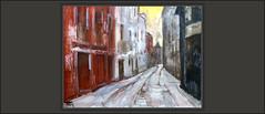 MANRESA-PINTURA-CARRER-VALLFONOLLOSA-PAISATGES-BARRI ANTIC-CARRERS-CIUTATS-CATALUNYA-QUADRES-ARTISTA-PINTOR-ERNEST DESCALS- (Ernest Descals) Tags: manresa barriantic bages ciutat ciutats carrer carrers calles calle vallfonollosa pintura pinturas pintures pintar cuadro cuadros quadre quadres painting paintings city landscape landscaping street paisatge paisatges paisatgeurbá paisajeurbano urban art arte artwork ciudad historia profundidad pintor pintors pintores catalans catalanes catalunya barcelona cataluña catalonia ernestdescals pictures paint painter painters artistes plastics artistas plasticos plastica