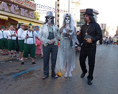 Til death do us part... (Andy WXx2009) Tags: people outdoors cosplay men women makeup girl costumes fancydress beauty benidorm spain europe hats ghouls ghosts bride vicar corpsebride facepaint style streetphotography zombies candid espana undead halloween vampires portrait horror